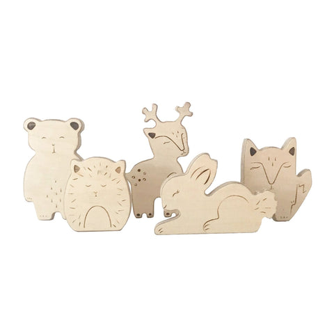 Loullou Wooden Animals on DLK | designlifekids.com