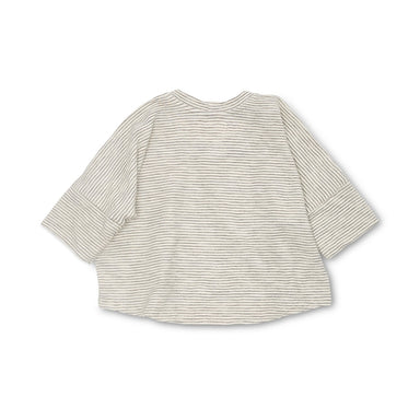 Bacabuche Navy Striped Oversized Box top on Design Life Kids