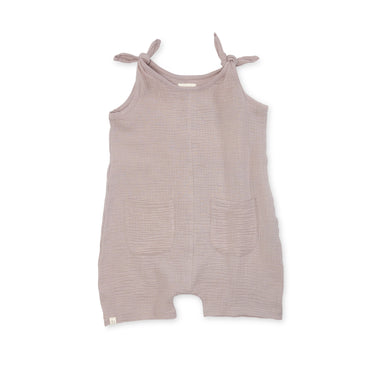 Bacabuche Lightweight Gauze Self Tie Romper on Design Life Kids