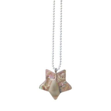 Pop Cutie Beach Shell Necklace on DLK | designlifekids.com