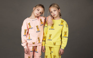 Mini Rodini Cat Campus Sweatpant on DLK | designlifekids.com