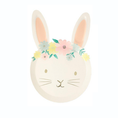 MeriMeri Floral Bunny Plate at Design Life Kids