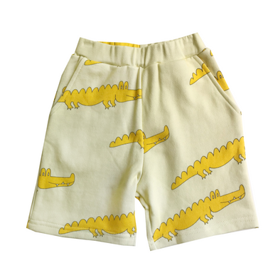 Banana Valentine Alligator Shorts on Design Life Kids