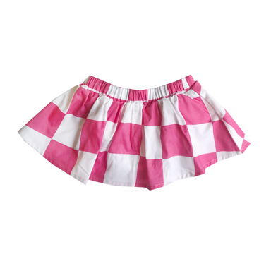 Banana Valentine Checkered Skirt on Design Life Kids