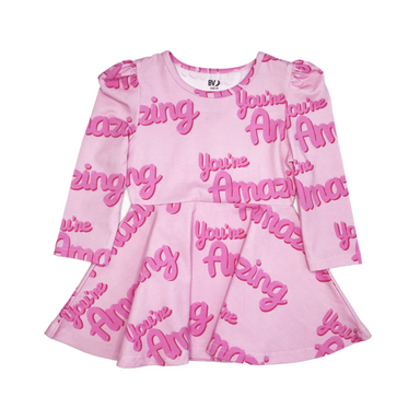 Banana Valentine Puff Sleeve Dress on Design Life Kids