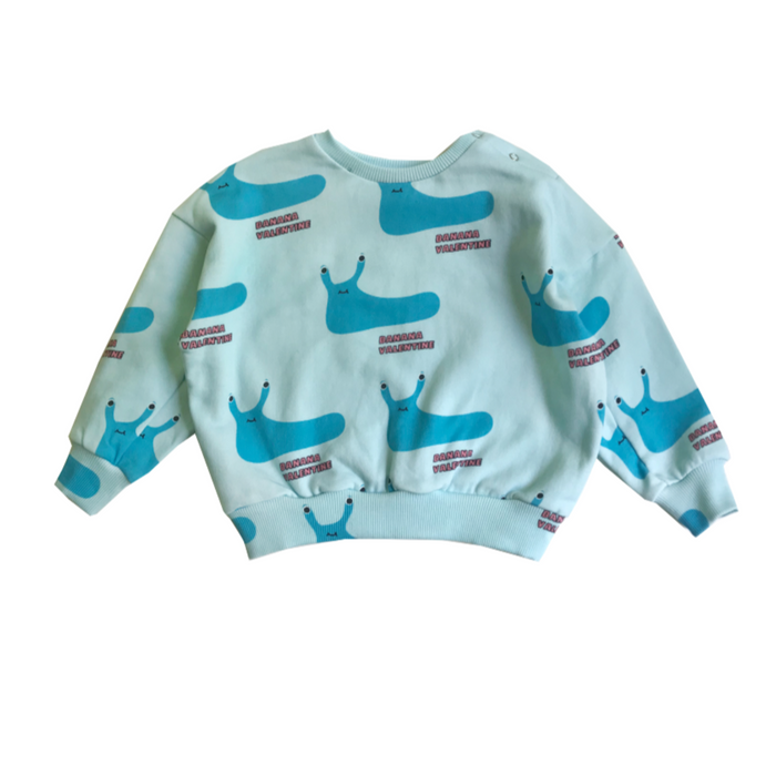 Banana Valentine Slugs Sweatshirt on Design Life Kids