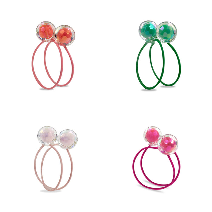 Milk and Soda Bauble Hair Tie Set on DLK | designlifekids.com