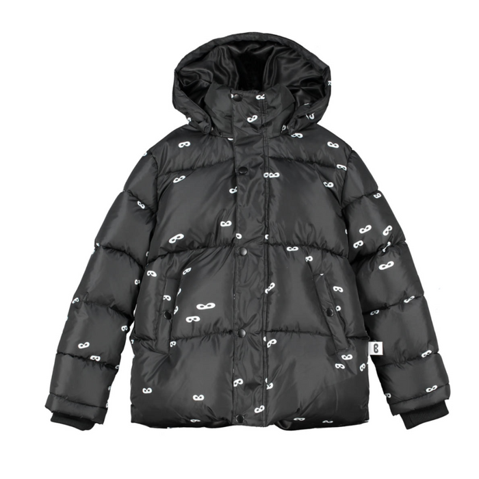 Beau Love Mini Masks Puffer Jacket on Design Life Kids