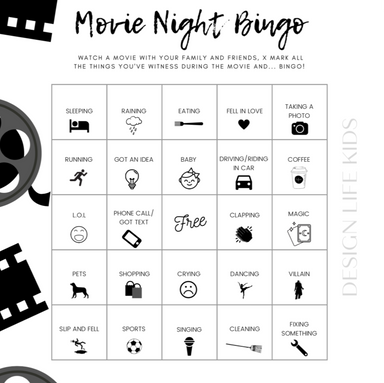 Bingo Printable - Movie Night