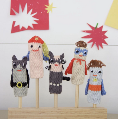 Blabla Superhero Finger Puppets on Design Life Kids