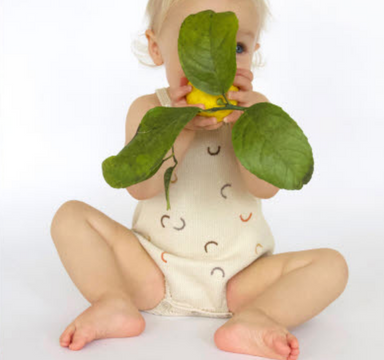 Blabla Hockney Oatmeal Romper on Design Life Kids