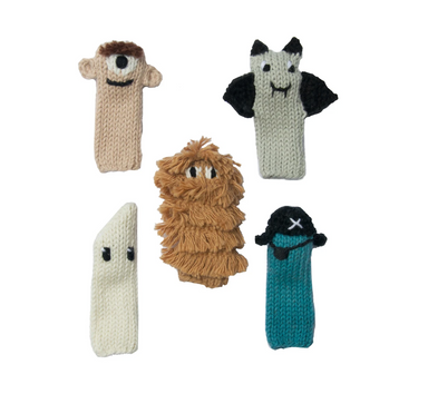 Blabla Spooky Monster Finger Puppets on Design Life Kids