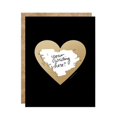 Inklings Paperie Black and Gold Heart Scratch off Card on Design Life Kids