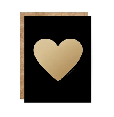 Black and Gold Heart Scratch off Card on Design Life Kids