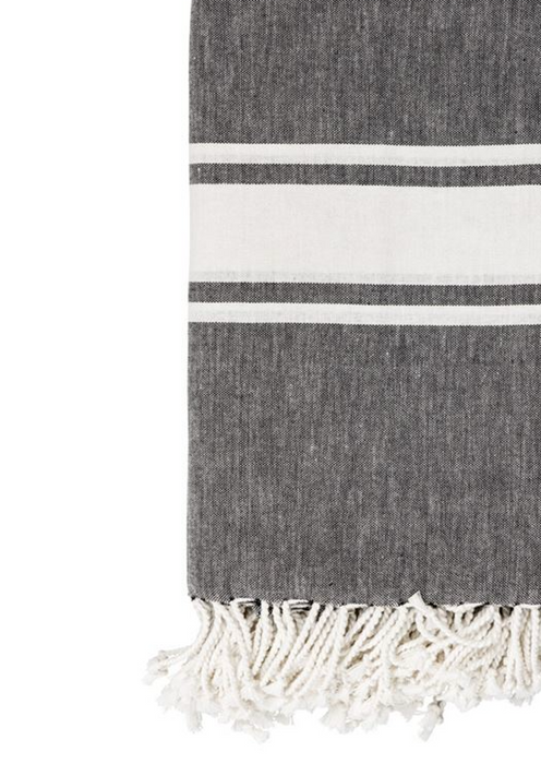 Bloomingville Fringe Striped Cotton Woven Throw Blanket on Design Life Kids