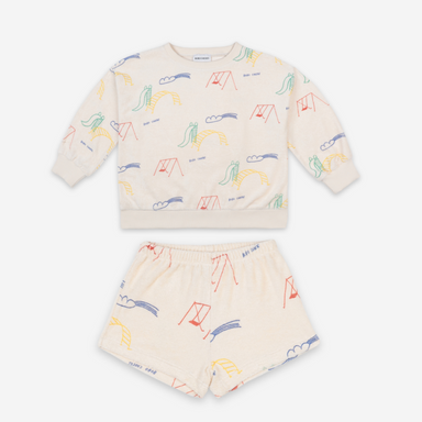 Bobo Choses Playground Terry Shorts on Design Life Kids