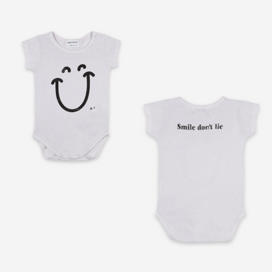 Bobo Choses Big Smile Short Sleeve Bodysuit on Design Life Kids