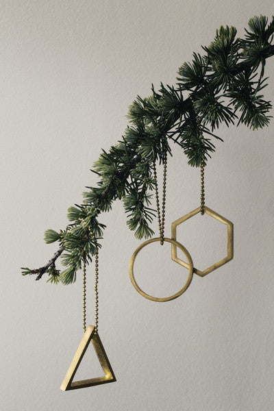 Ferm Living Modern Brass Ornaments on DLK