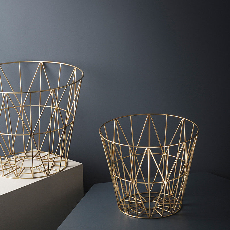 Ferm Living Brass Wire Baskets on DLK