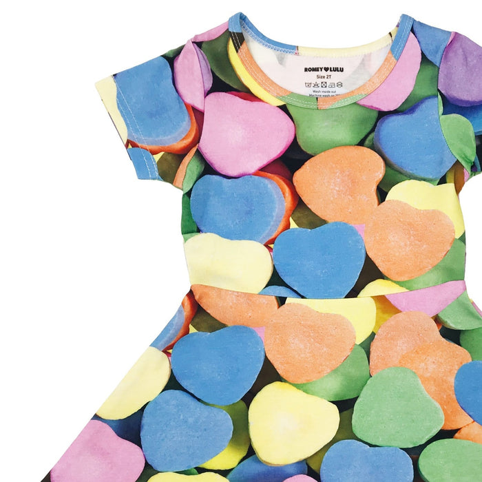 Romey Loves Lulu Candy Hearts Skater Dress on Design Life Kids