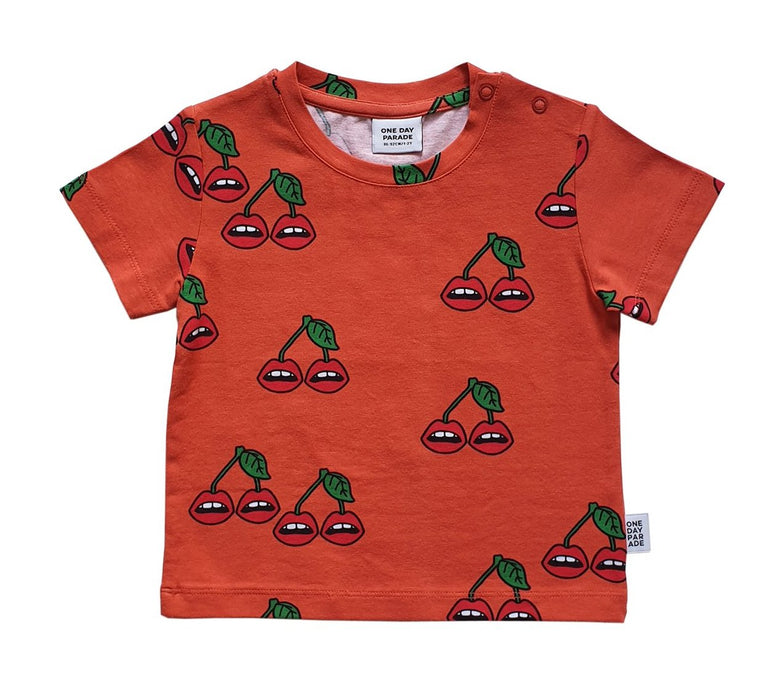 One Day Parade Cherry Lips Tee Shirt on DLK | designlifekids.com