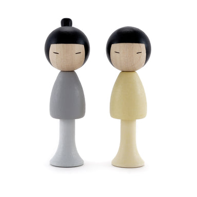 Clicques Toys Wooden Kokeshi Dolls on Design Life Kids