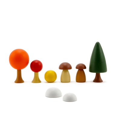Clicques Toys Magnetic Wooden Autumn Garden Trees on Design Life Kids