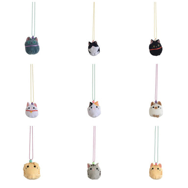Pop Cutie Cat Plush Necklace Set on DLK