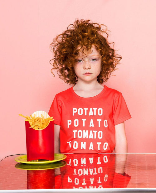 Gardner and the Gang Potato Tomato Tee on DLK | designlifekids.com