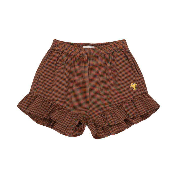 Tiny Cottons Check Frill Shorts on Design Life Kids
