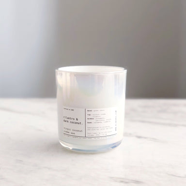 Cilantro and Dark Coconut Candle on Design Life Kids