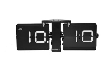 Cloudnola Black Flipping Out Modern Retro Flip Clock on Design Life Kids