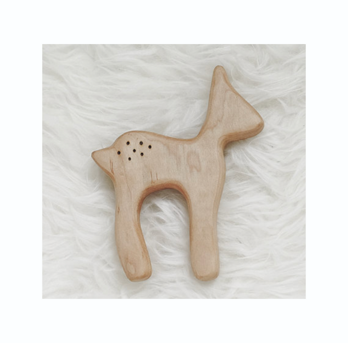 Clover and Birch Wooden Deer Teether at Design Life Kids