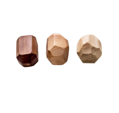 Clover and Birch Wooden Geode Rattles on Design Life Kids