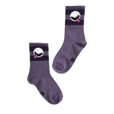 Little Man Happy Monster Cosmic Cutie Socks on Design Life Kids