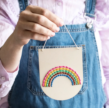 Cotton Clara Rainbow Embroidery Banner on Design Life Kids