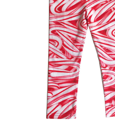 Romey Loves Lulu Candy Canes Leggings on Design Life Kids