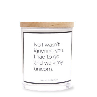 Damselfly UNICORN CANDLE ON DLK