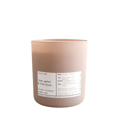 Rose Water and Hibiscus Candle on Design Life Kids