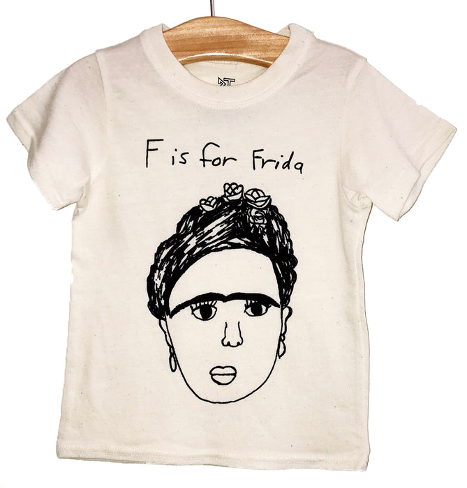 Anchors and Asteroids F is for Frida Tee Shirt on Design Life Kids