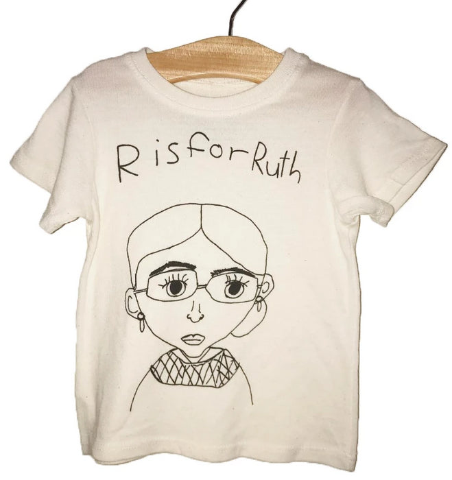 Anchors and Asteroids R is for Ruth Tee Shirt on Design Life Kids