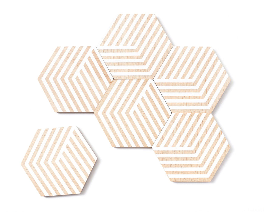 Optic Table Tile Coasters