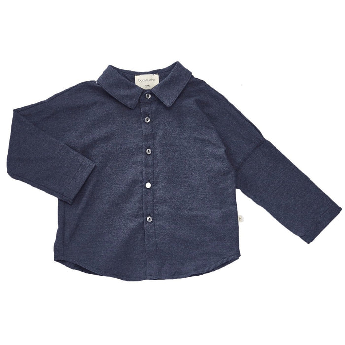Bacabuche Flannel Button Down Shirt at Design Life Kids