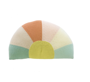 Blabla Sunrise Knit Pillow on Design Life Kids