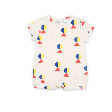 Bobo Choses Geometric All Over Playsuit on Design Life Kids