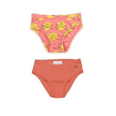 Bobo Choses B.C. & All Over Cat Print Underwear Set