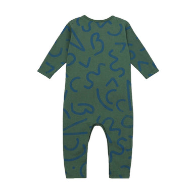 Bobo Choses Curved Lines All Over Overalls on Design Life Kids