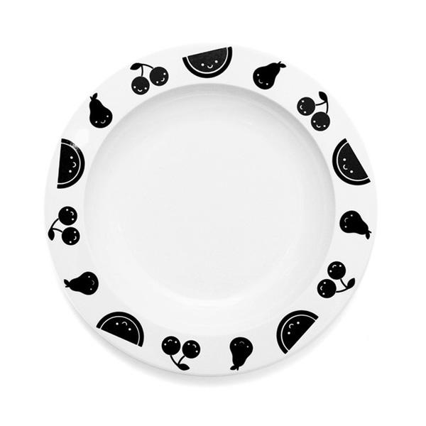 Buddy and Bear Fruit Friends Plate on DLK