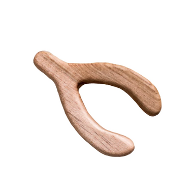 Clover and Birch Wooden Wishbone Teether at Design Life Kids