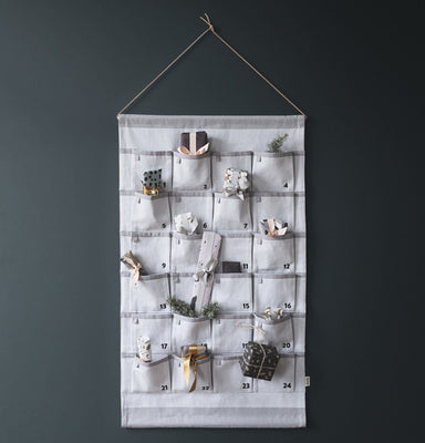 Ferm Living Grey Christmas Calendar on Design Life Kids